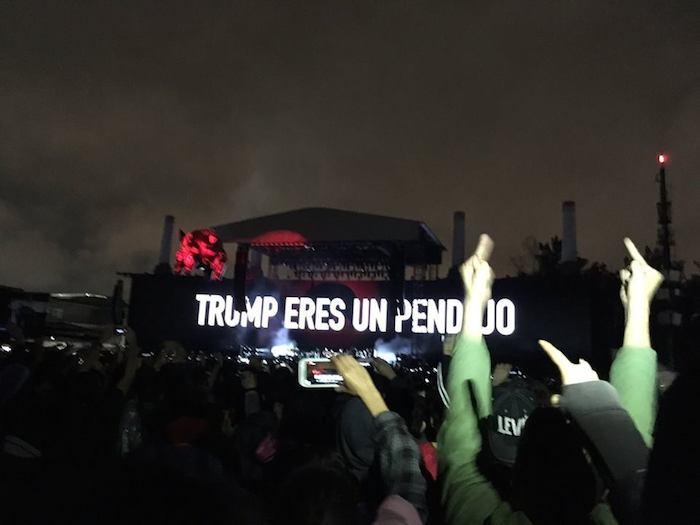 """El músico británico no dudó en llamar """"pendejo"""" a Donal Trump. Foto: vía Twitter @DonRockero"""