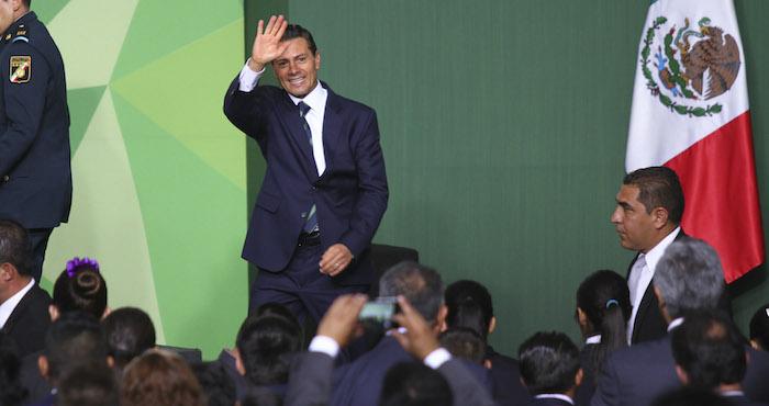 El Presidente de México en una ceremonia en la residencia Oficial de los Pinos. Foto: Cuartoscuro, Archivo