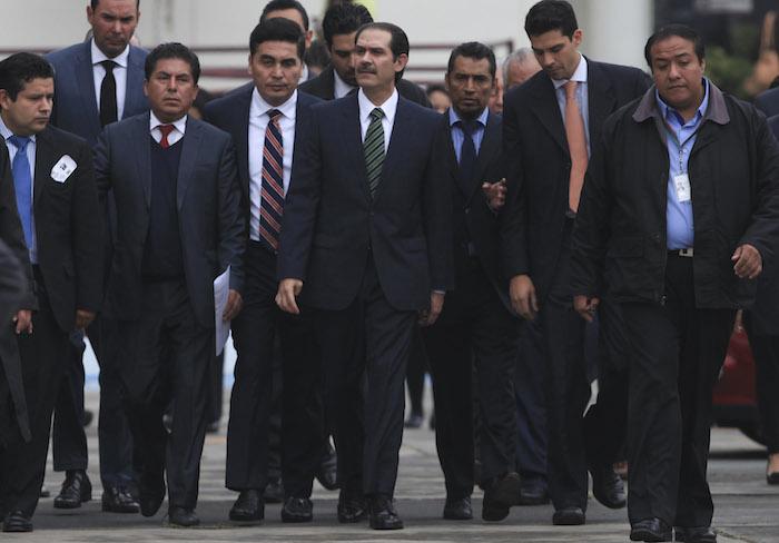 El ex Gobernador de Sonora, Guillermo Padres Elías, acudió ayer al Reclusorio Oriente a comparecer ante un juez. Ahí fue detenido. Foto: Cuartoscuro
