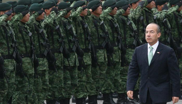 Calderón en guerra. Foto: Cuartoscuro