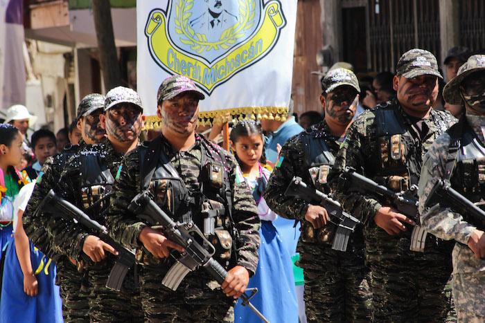 """Con su nuevo Gobierno, Cherán también sacó a la policía de la comunidad y creó las """"rondas"""". Foto: Cuartoscuro"""