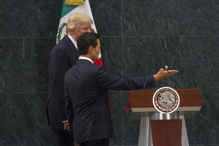 El pasado 31 de agosto el Presidente Enrique Peña Nieto recibió a Donald Trump en la residencia oficial de Los Pinos. Foto: Cuartoscuro