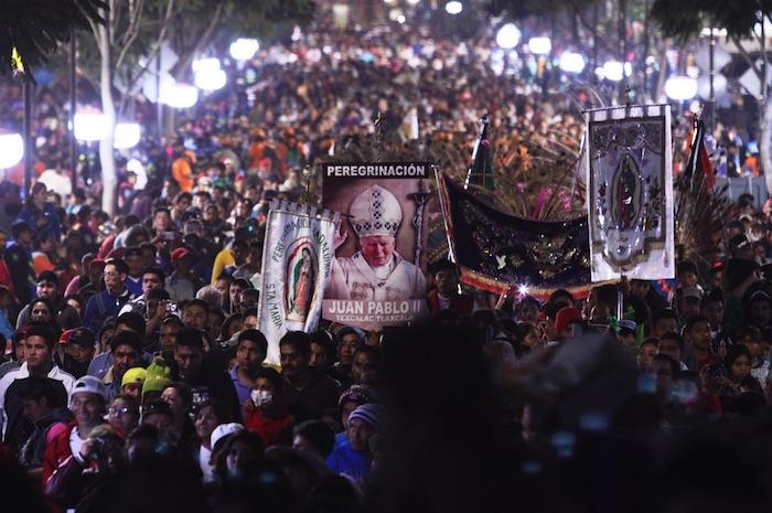 El año pasado, más de 7 millones de peregrinos acudieron a la Basílica para festejar a la Virgen de Guadalupe. Foto: Cuartoscuro