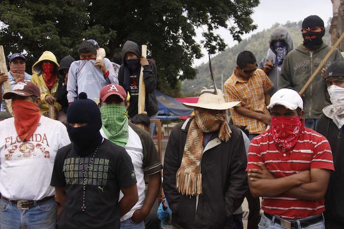 El movimiento de la comunidad indígena de Cherán inició en abril de 2011. Cuando habitantes de la comunidad se defendieron de los talamontes protegidos por un grupo armado. Foto: Cuartoscuro