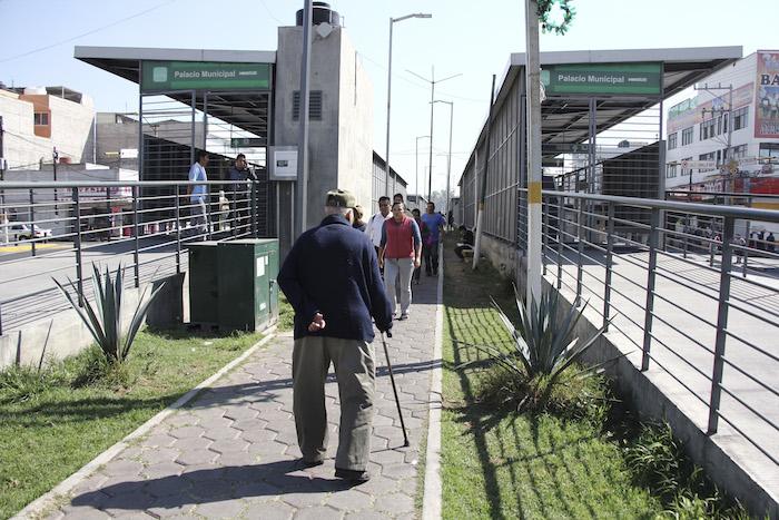 Desalojaron y cerraron la estación del Mexibús en estado de México. Foto. Cuartoscuro
