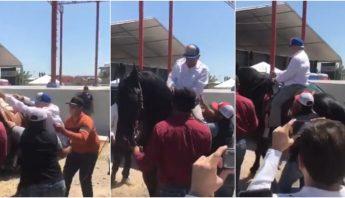 AMLO monta caballo