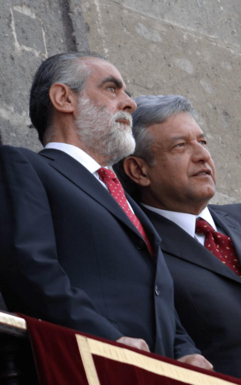 Diego Fernández de Cevallos junto a Andrés Manuel López Obrador.