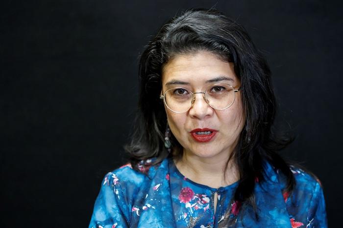 La directora ejecutiva de Amnistía Internacional México, Tania Reneaum, habla este miércoles durante una entrevista con Efe, en Ciudad de México. Foto: José Méndez, EFE