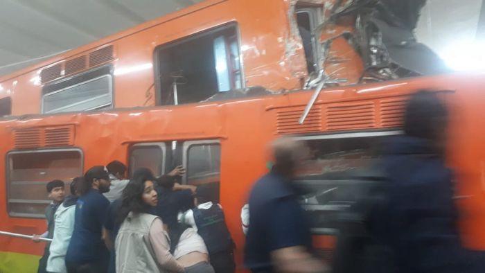 El Sistema de Transporte Colectivo Metro informa que, alrededor de las 23:30 horas del martes 10 de marzo, el tren No. 33 se impactó contra el tren No. 38 sobre la vía dirección Observatorio en la estación Tacubaya de la Línea 1. Foto: Especial, Cuartoscuro