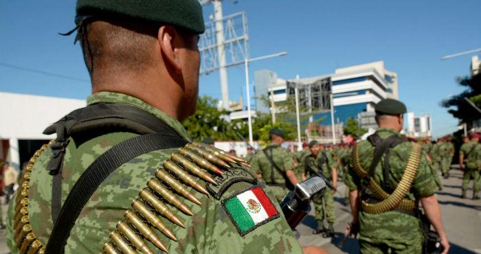 Elementos de las Fuerzas Armadas en Culiacán, Sinaloa.