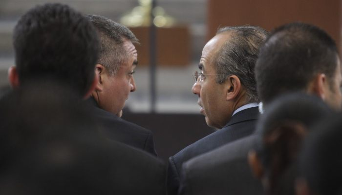 Genaro García Luna, exsecretario de Seguridad Pública federal, y el expresidente Felipe Calderón.