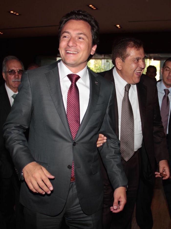 Emilio Lozoya Austin junto con Alonso Ancira, presidente de la Cámara Nacional del Acero (Canacero).