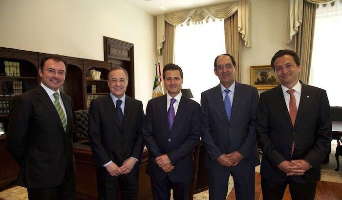 Videgaray (corbata verde) y Lozoya (corbata roja) se conocen desde que Peña (corbata morada) era Gobernador del Edomex y entablaron una amistad desde entonces.