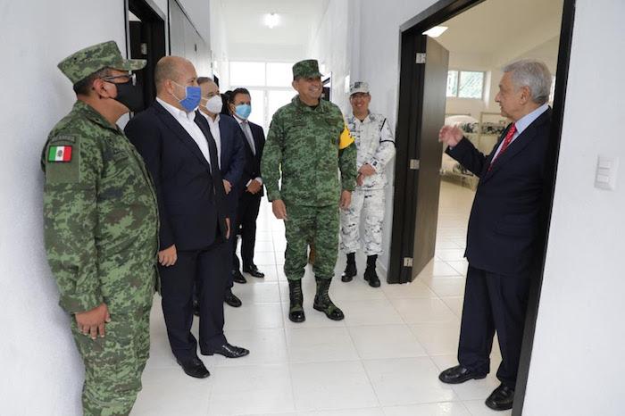 El Presidente Andrés Manuel López Obrador visita las instalaciones del nuevo cuartel de la Guardia Nacional en Jalisco.