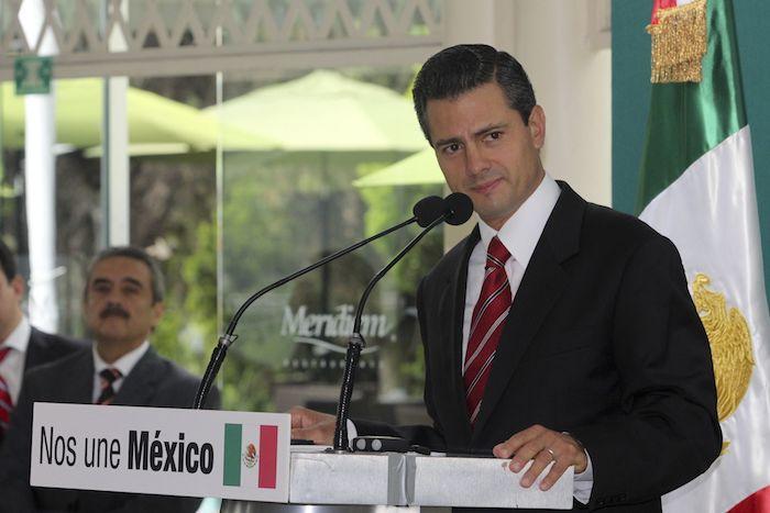 Enrique Peña Nieto, en ese momento virtual ganador de la contienda para la elección presidencial, en conferencia de prensa, en julio de 2012.