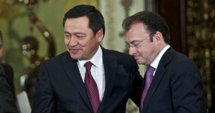 Luis Videgaray Caso, exsecretario de Hacienda, y Miguel Ángel Osorio Chong, exsecretario de Gobernación.