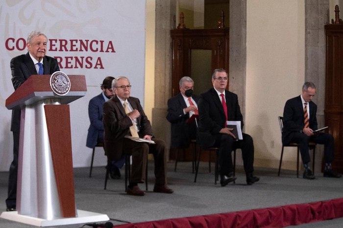 Andrés Manuel López Obrador en su conferencia de prensa.