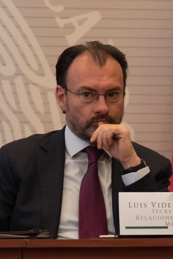 Luis Videgaray, excolaborador de Enrique Peña Nieto, en una conferencia de prensa celebrada en 2017.