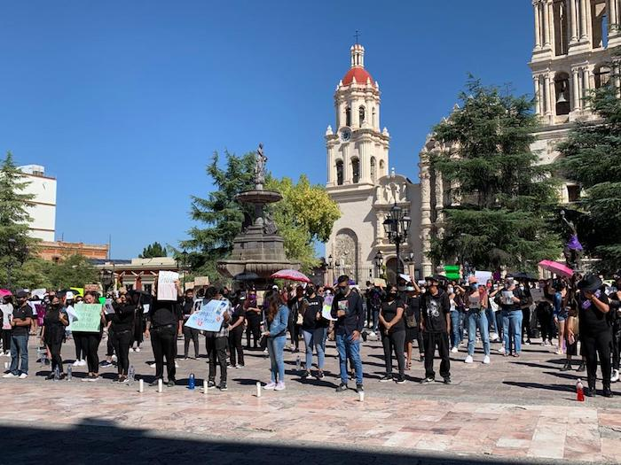 Protesta por el feminicidio de Alondra en Coahuila.