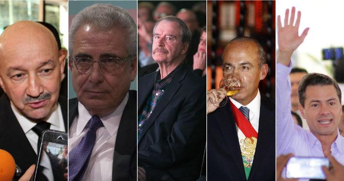 Los expresidentes de México del periodo neoliberal.