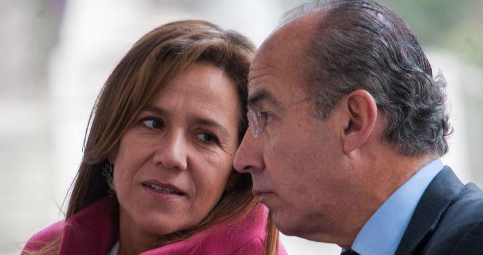Margarita Zavala, exaspirante a la Presidencia de México, y el expresidente Felipe Calderón.