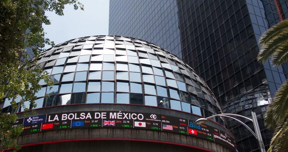 Foto del exterior de la Bolsa Mexicana de Valores