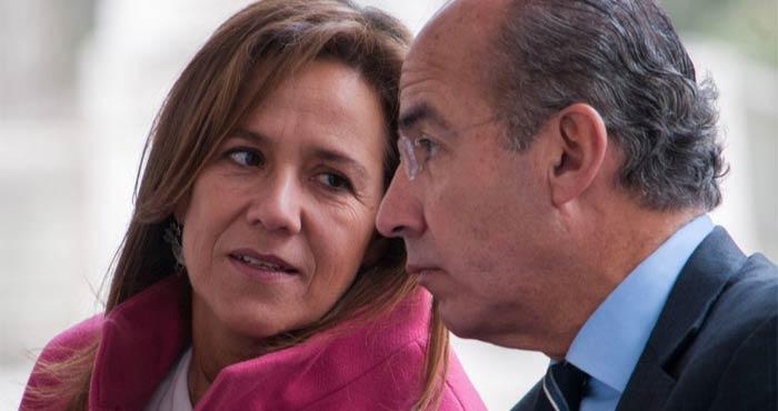 Doña Margarita Ester Zavala Gómez del Campo y su consorte, don Felipe de Jesús Calderón Hinojosa. Foto: Cuartoscuro