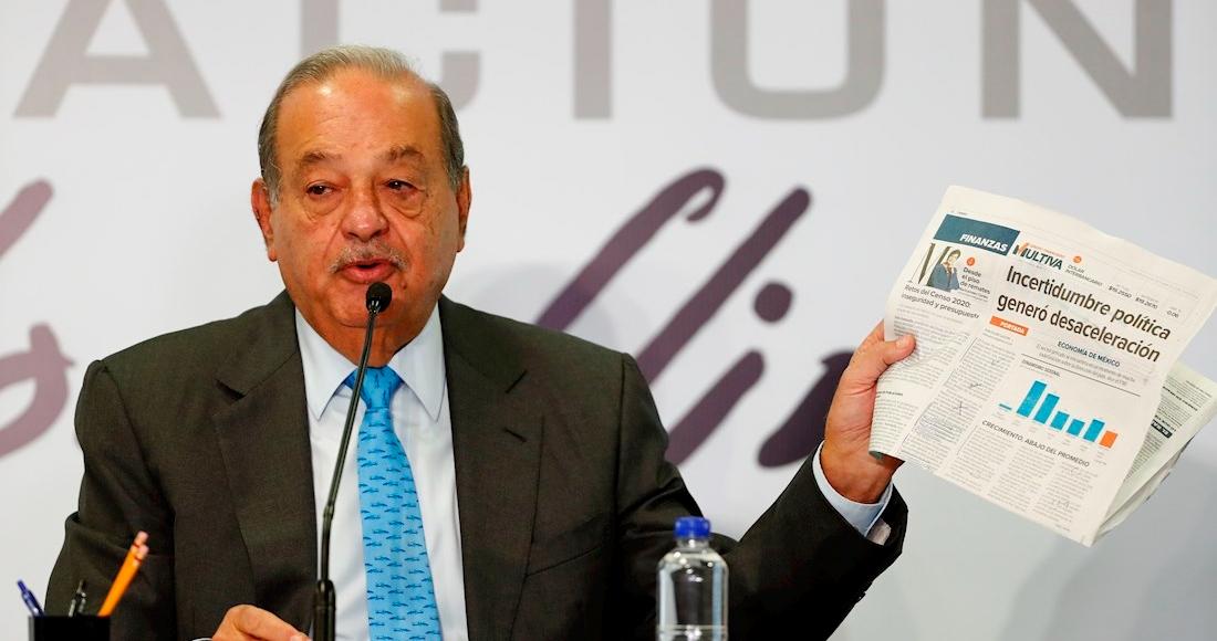 carlos slim periodico mano - El hombre más rico de México, Carlos Slim, recibe su cumpleaños 81 hospitalizado por la COVID