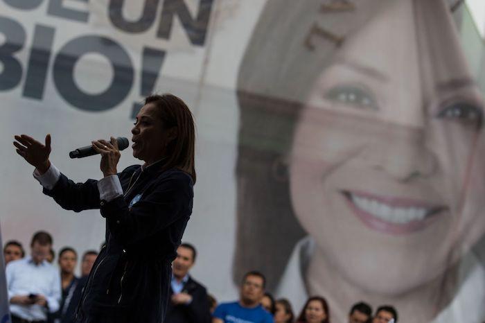 La panista en un evento de mayo de 2017 en el Estado de México.