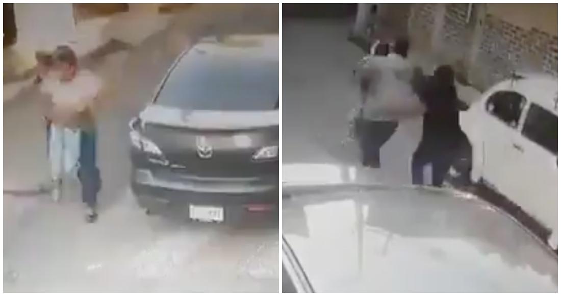 nincc83o escapa secuestro - VIDEO: Conductor de una combi arroja a una mujer en calles de Edomex; la habría asaltado y secuestrado