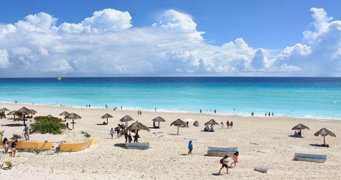 Una playa de Quintana Roo.