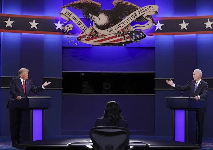 El presidente Donald Trump y el candidato presidencial demócrata Joe Biden discutirán en el último debate presidencial en la Universidad de Belmont el jueves 22 de octubre de 2020 en Nashville, Tennessee.