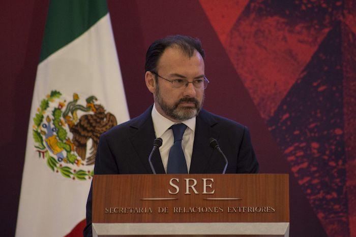Luis Videgaray Caso, entonces Secretario de Relaciones Exteriores, en la XXVIII Reunión Anual de Embajadores y Cónsules 2017.