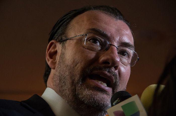 Luis Videgaray Caso, exsecretario de Relaciones Exteriores, durante el Acto Conmemorativo del 73 Aniversario de la Organización de la Naciones Unidas en 2018.