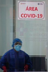 Letrero de área COVID-19 en hospital de la Ciudad de México. Foto: Daniel Augusto, Cuartoscuro