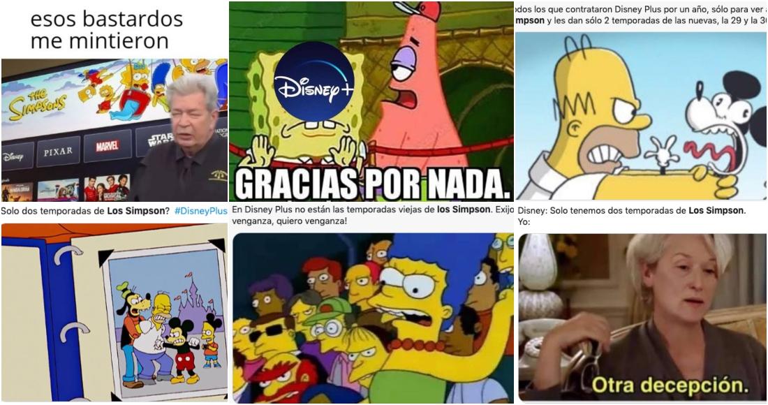 Suscriptores exigen a Disney+ Latinoamérica las temporadas completas de Los  Simpson con MEMES | SinEmbargo MX
