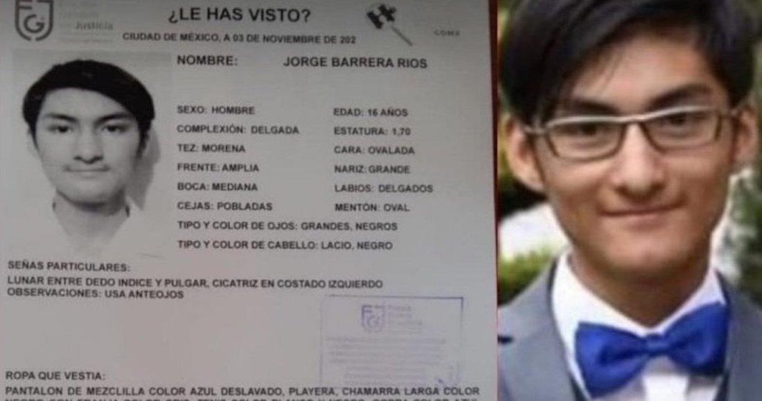 jorge ficha 2 - Diego, estudiante de la UNAM, es hallado sin vida en Xochimilco, CdMx; tenía 3 días desaparecido