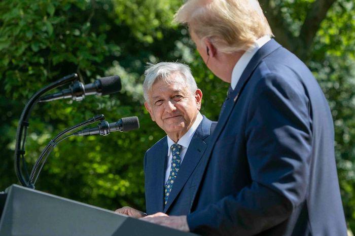 Andrés Manuel López Obrador, Presidente de México, y Donald Trump, Presidente de los Estados Unidos, el pasado 8 de julio en la Casa Blanca.