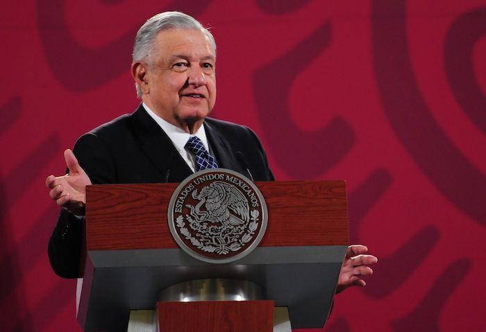 El Presidente Andrés Manuel López Obrador en su conferencia de prensa de este miércoles.