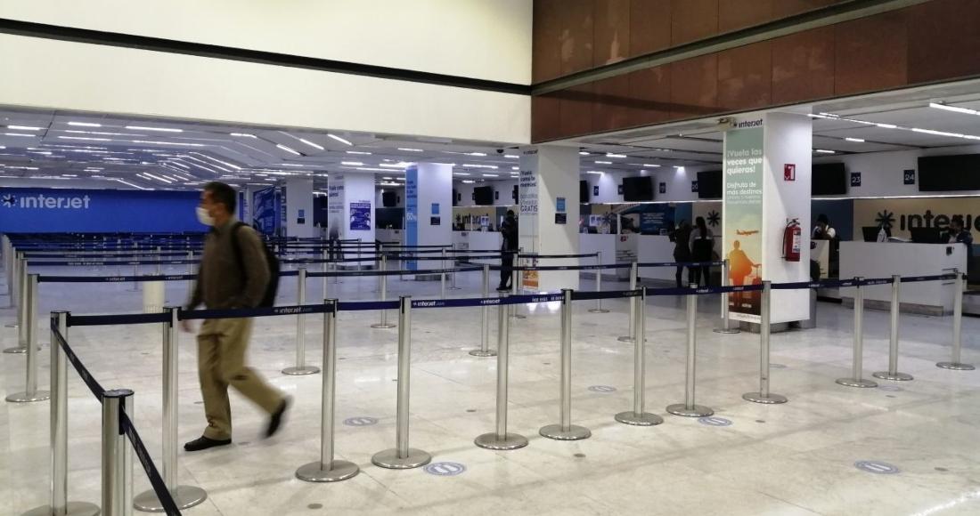 interjet sala aicm vacia - La IATA saca a Interjet de lista de aerolíneas que pueden vender boletos en agencias de viajes