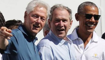 Obama,Bush y Clinton