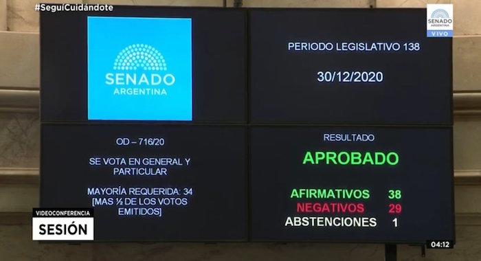 votacion - Argentina aprueba legalización del aborto. Mujeres celebran decisión del Senado (FOTOS y VIDEOS)
