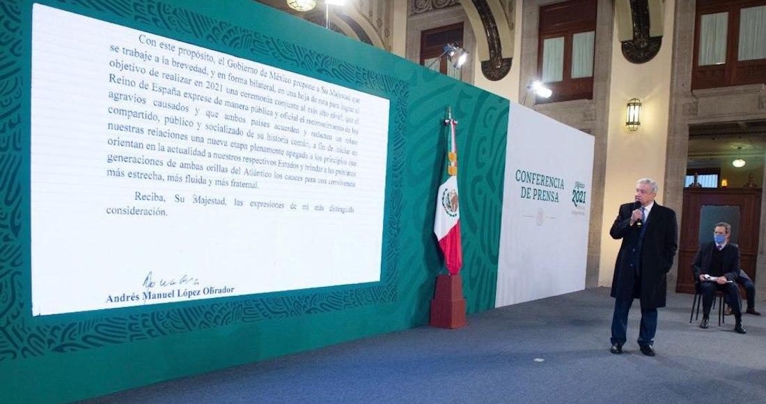 AMLO revela la carta al rey de España: pide que acepte crímenes de la conquista y que se disculpe