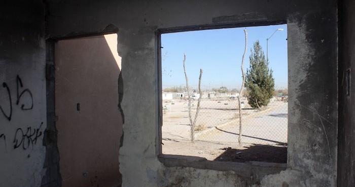 Viviendas abandonas en Ciudad Juárez, Chihuahua.