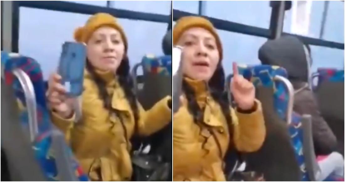 lady cubrebocas me vale - VIDEO: Mujer se niega a usar cubrebocas por comer en una combi del Edomex; la apodan #LadyPepitas