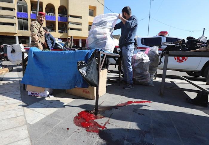 """muertes mercado - Dos se hacen explotar en mercado de Bagdad y dejan 28 muertos; es un """"ataque terrorista suicida"""": autoridades"""