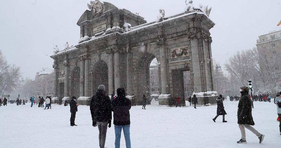 nevada madrid - FOTOS: Madrid amanece cubierta de nieve; autoridades piden no realizar desplazamientos innecesarios