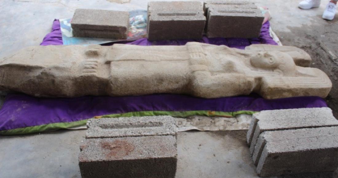 se 0801 24 - FOTOS: El INAH investiga bajorrelieve de un águila real encontrado al pie del Templo Mayor