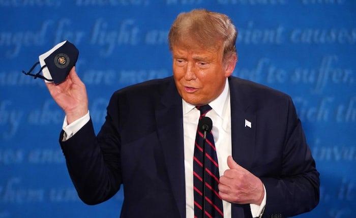 trump tv debatte maske imago0105214093h 1 - ADELANTO | Voluble e impredecible, el liderazgo de Trump causó un ataque de nervios en EU: Woodward