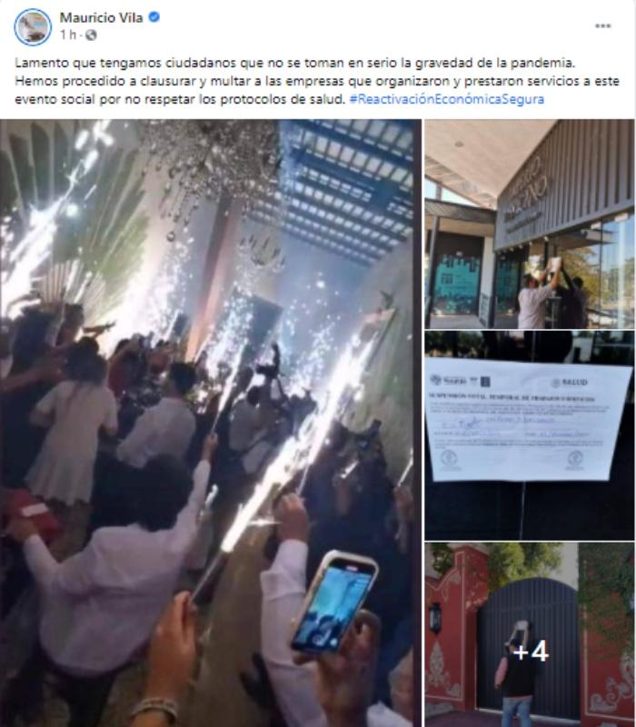 yucatan - Empresarios realizan fiesta en Yucatán y la presumen en redes. Les cierran el lugar y los multan